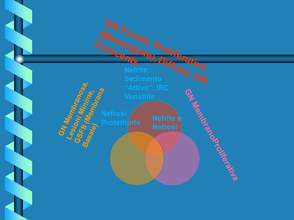 GN Focale, Proliferativa (Mesangiale), Diffusa, GN Crescents