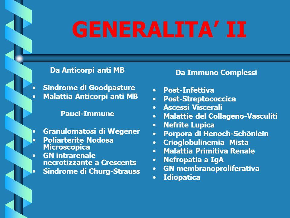 GENERALITA' II Da Anticorpi anti MB Da Immuno Complessi