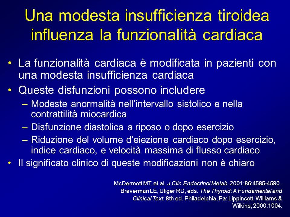 Una modesta insufficienza tiroidea influenza la funzionalità cardiaca