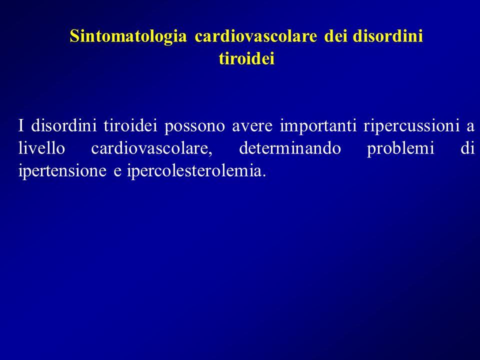 Sintomatologia cardiovascolare dei disordini
