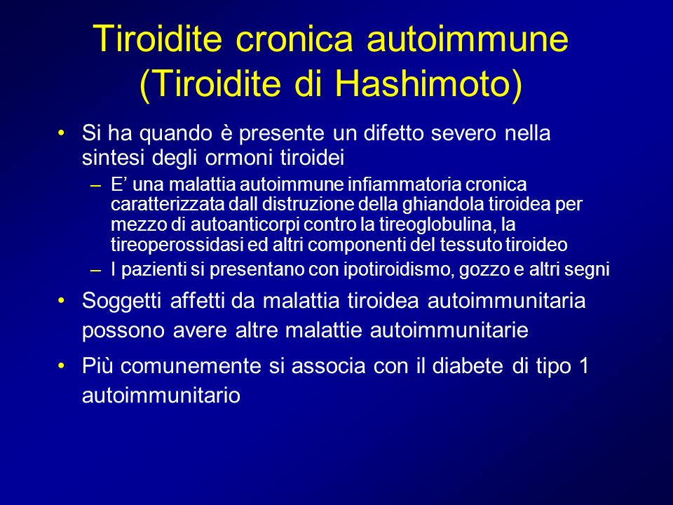 Tiroidite cronica autoimmune (Tiroidite di Hashimoto)