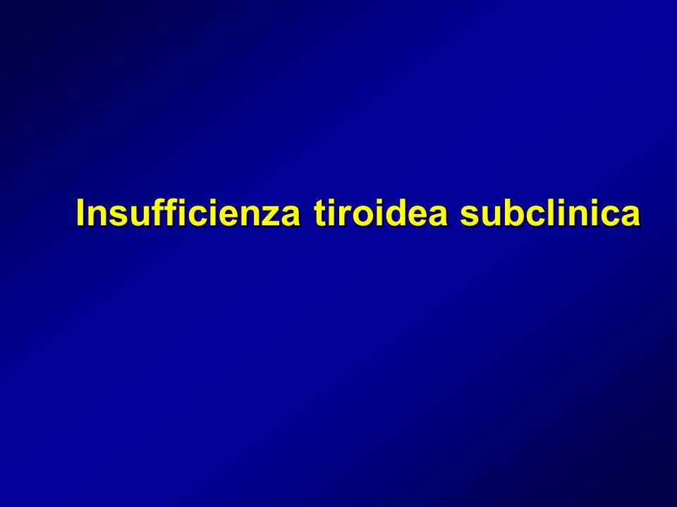 Insufficienza tiroidea subclinica
