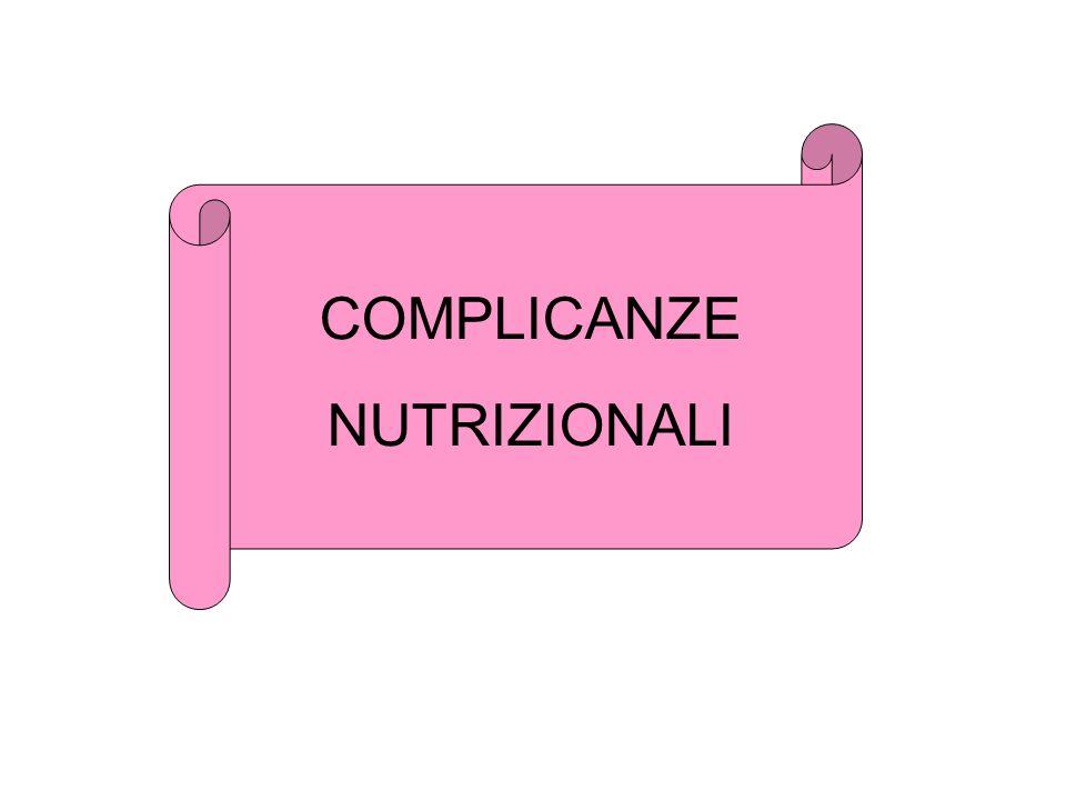 COMPLICANZE NUTRIZIONALI