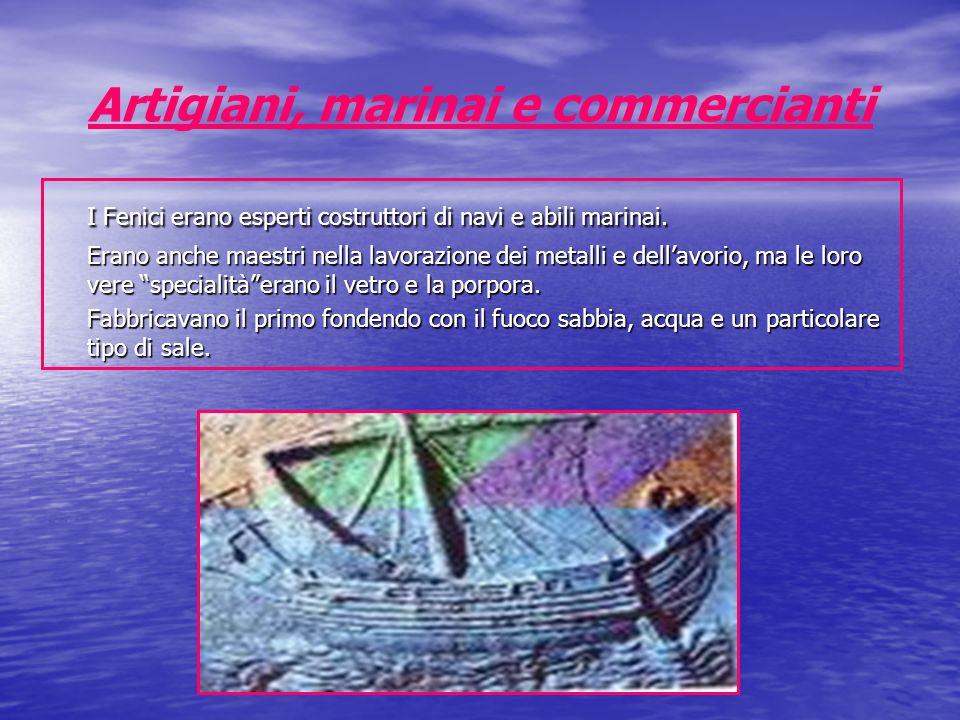 Artigiani, marinai e commercianti