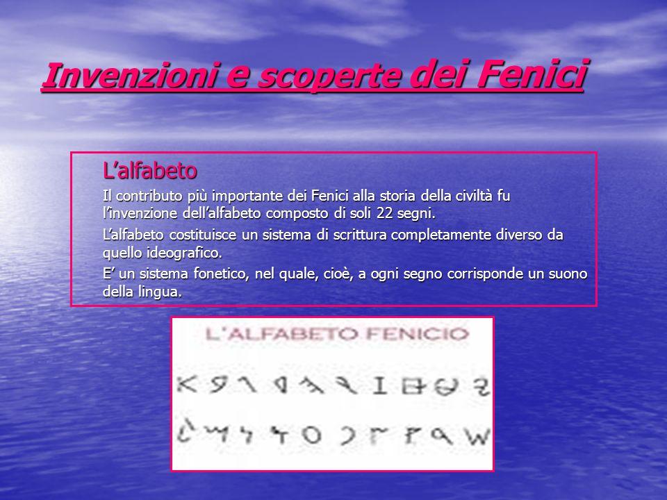 Invenzioni e scoperte dei Fenici