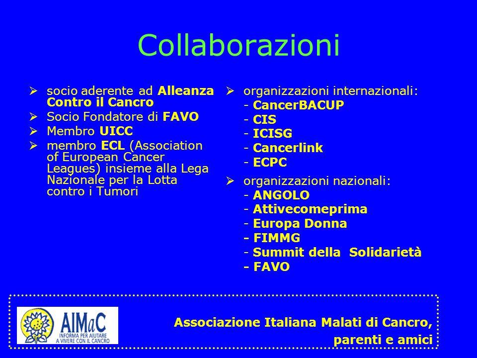 Collaborazioni socio aderente ad Alleanza Contro il Cancro