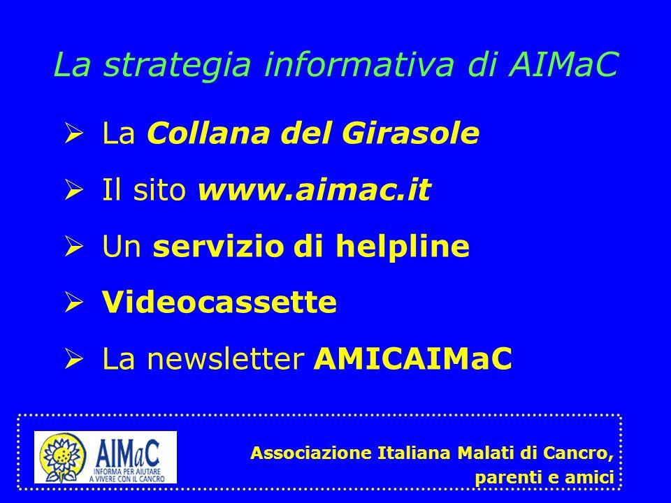 La strategia informativa di AIMaC