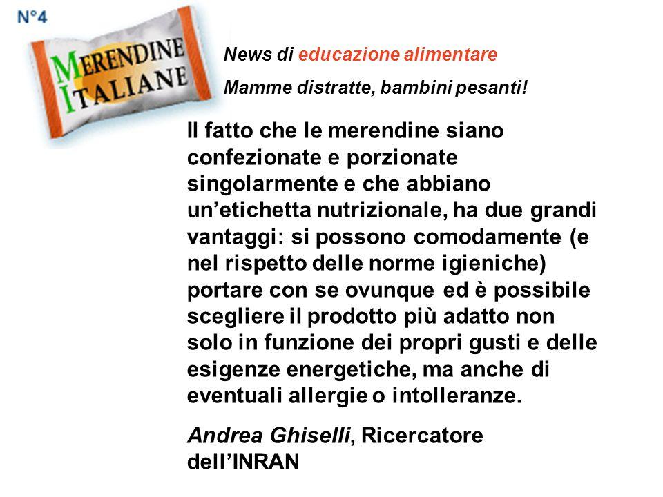 Andrea Ghiselli, Ricercatore dell'INRAN