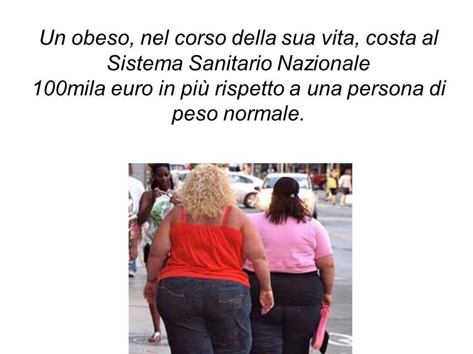 100mila euro in più rispetto a una persona di peso normale.