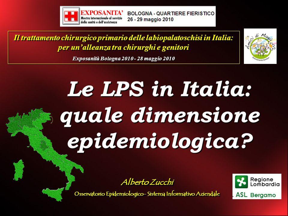 Le LPS in Italia: quale dimensione epidemiologica