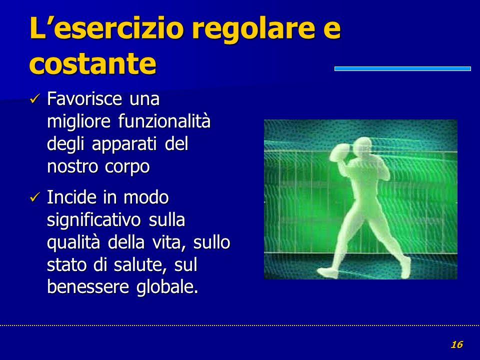 L'esercizio regolare e costante