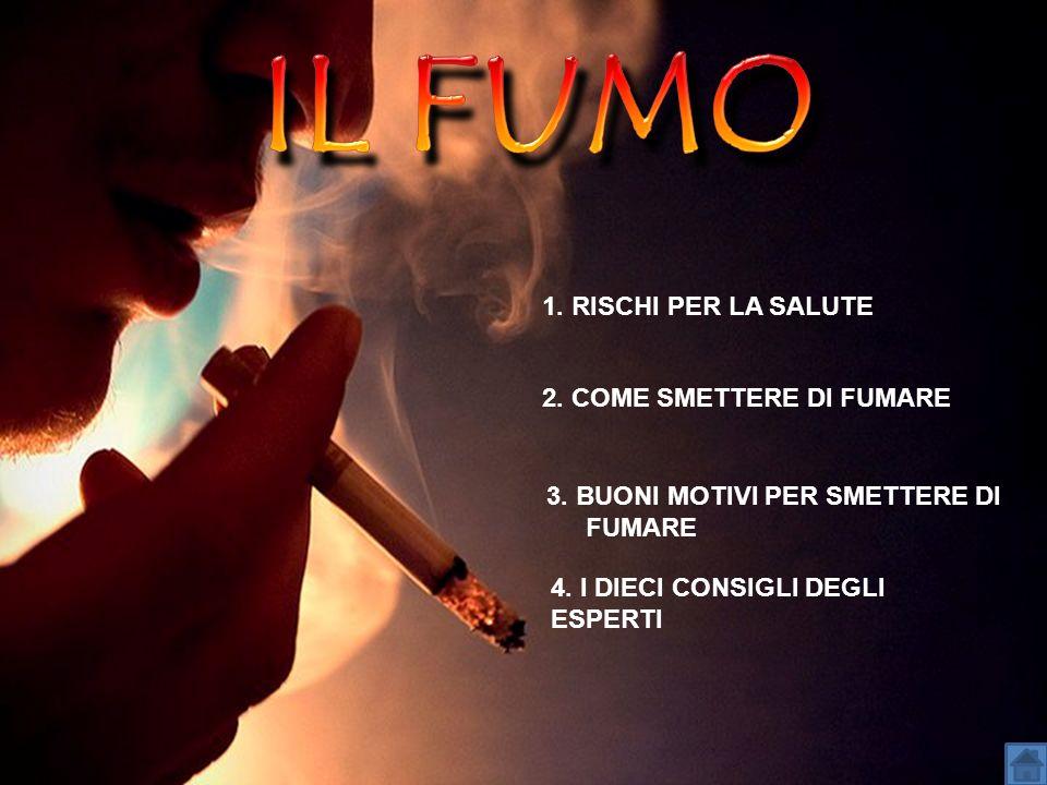 IL FUMO 1. RISCHI PER LA SALUTE 2. COME SMETTERE DI FUMARE