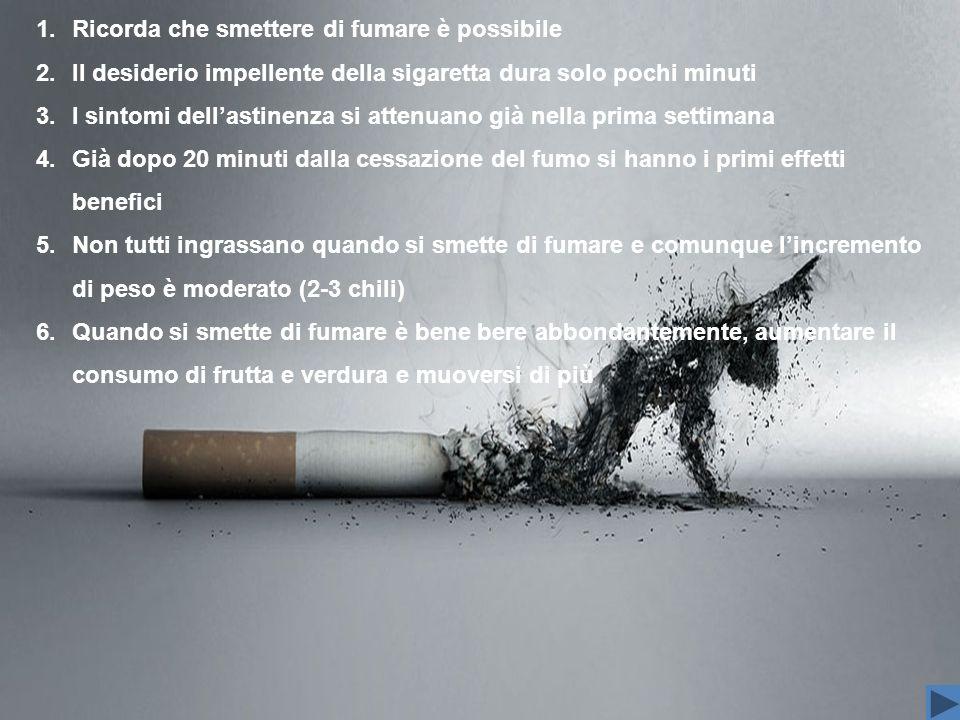 Ricorda che smettere di fumare è possibile