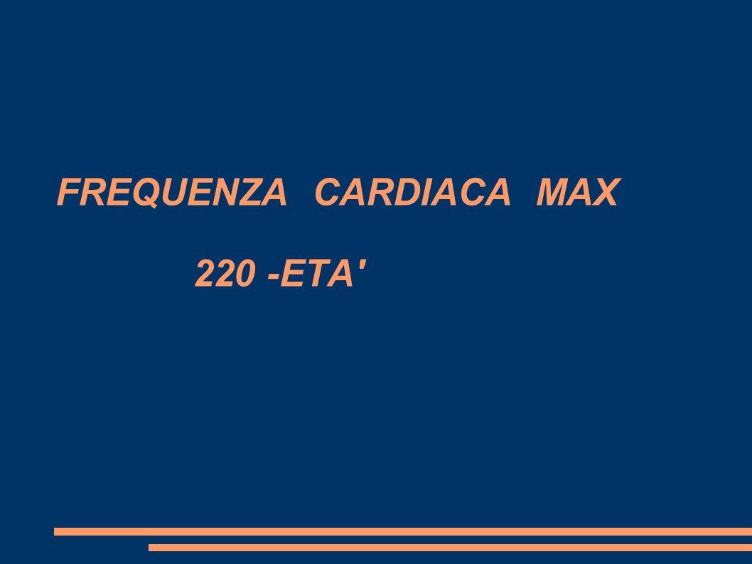 FREQUENZA CARDIACA MAX 220 -ETA