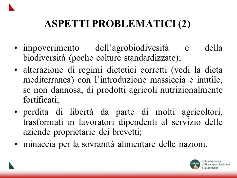 ASPETTI PROBLEMATICI (2)