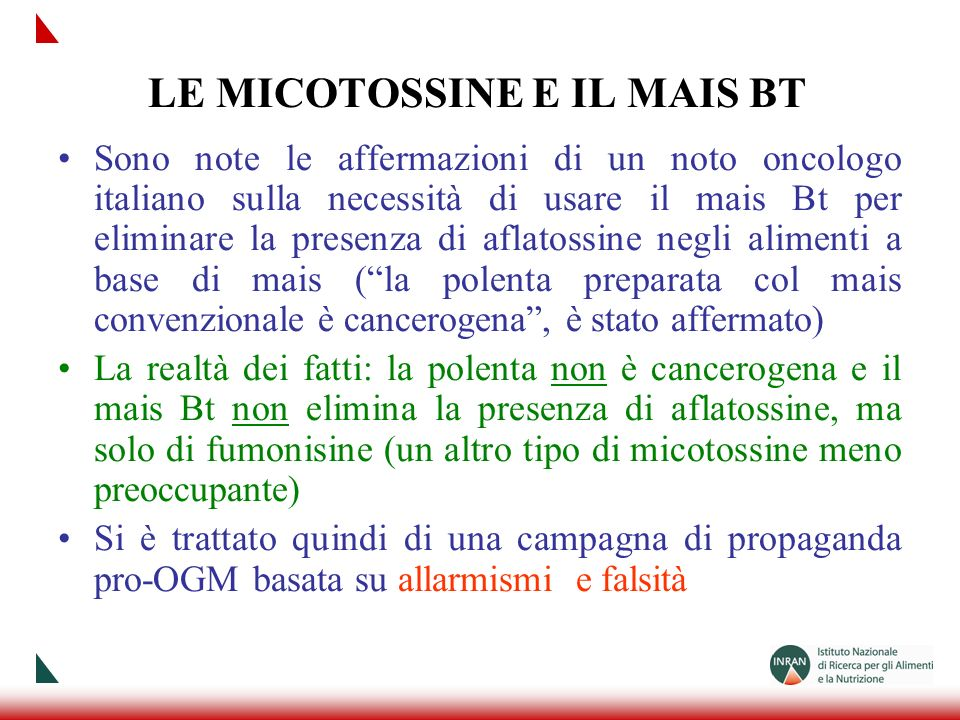 LE MICOTOSSINE E IL MAIS BT