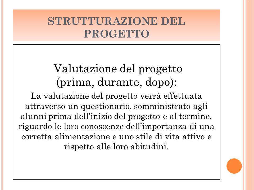 STRUTTURAZIONE DEL PROGETTO