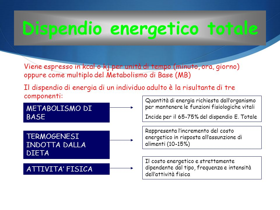 Dispendio energetico totale