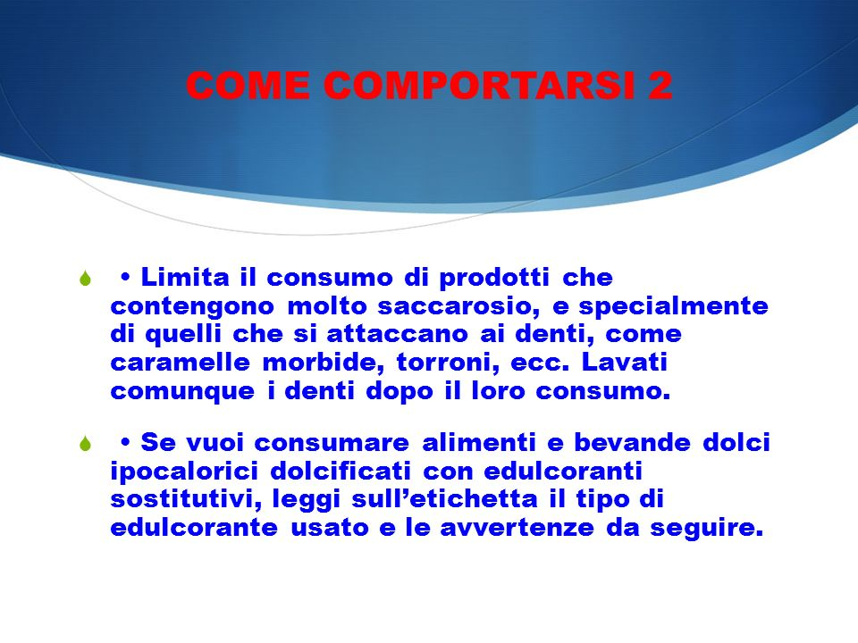 COME COMPORTARSI 2