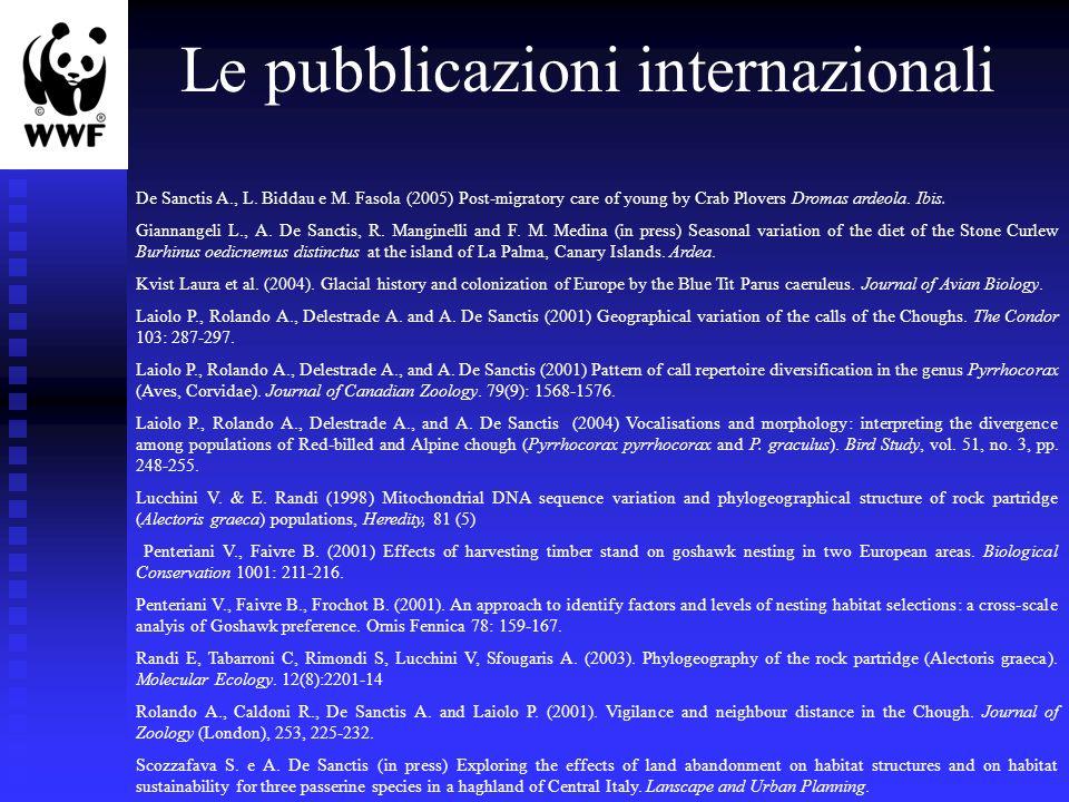 Le pubblicazioni internazionali