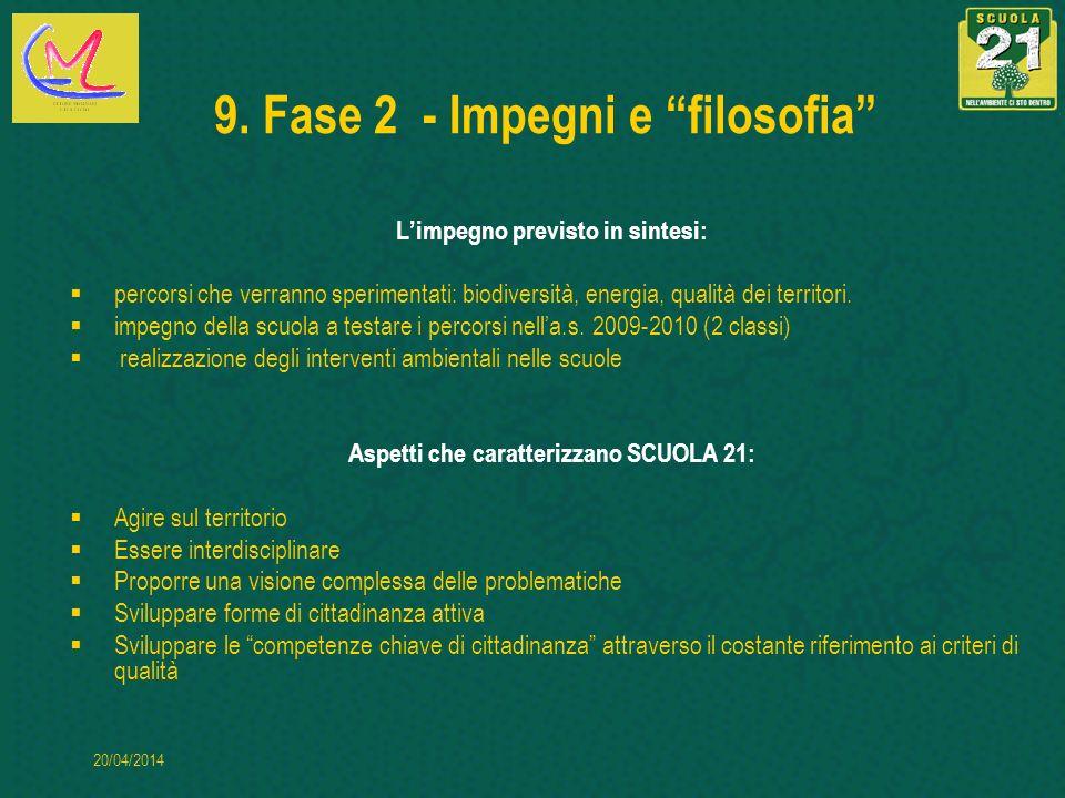 9. Fase 2 - Impegni e filosofia