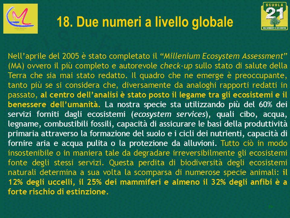18. Due numeri a livello globale
