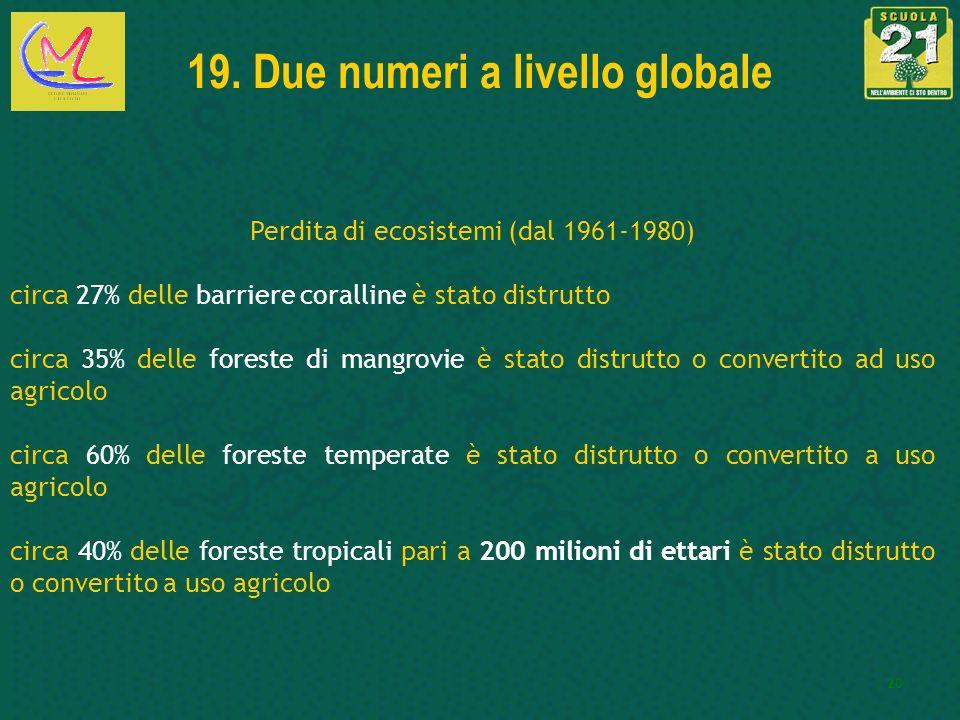 19. Due numeri a livello globale