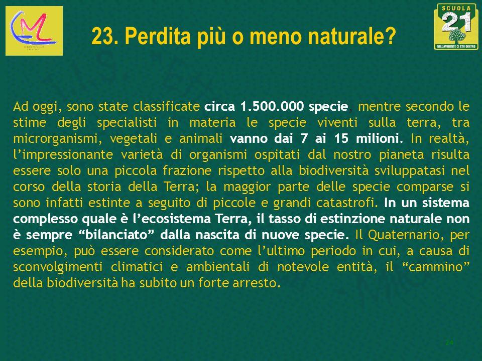 23. Perdita più o meno naturale