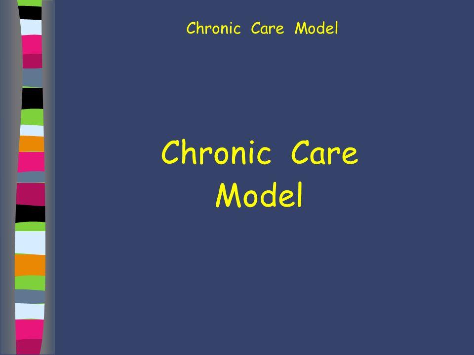Chronic Care Model Chronic Care Model