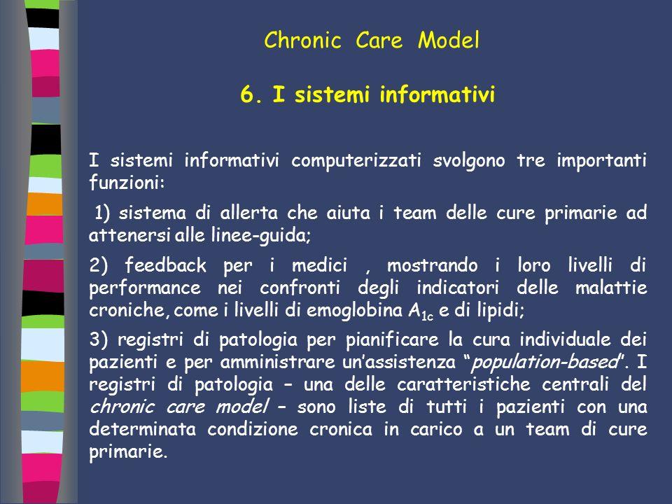 Chronic Care Model 6. I sistemi informativi