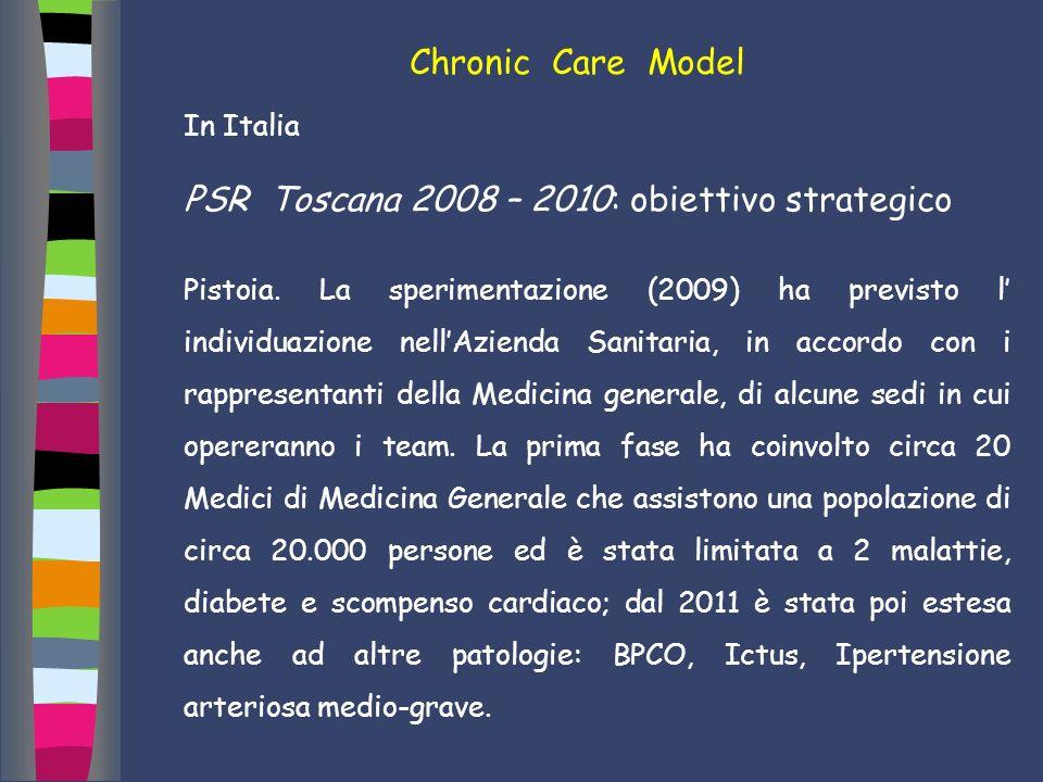 PSR Toscana 2008 – 2010: obiettivo strategico