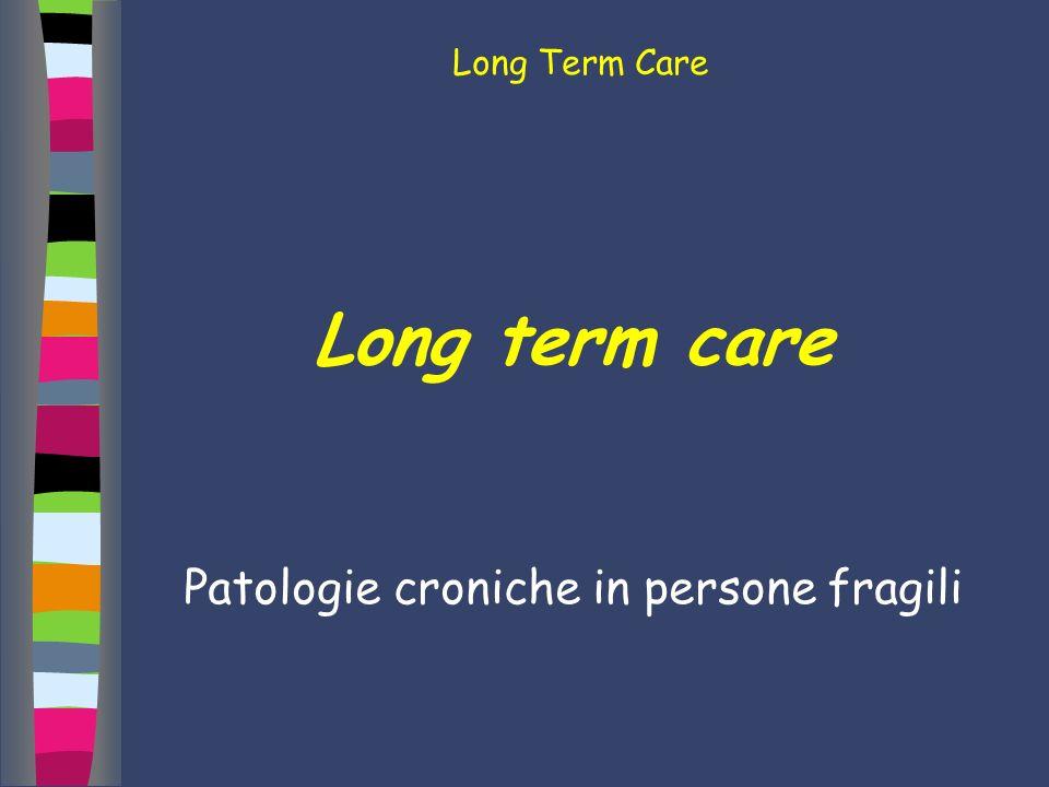 Patologie croniche in persone fragili