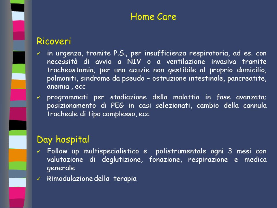 Home Care Ricoveri Day hospital