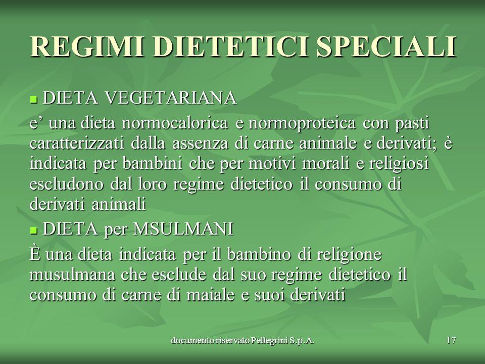 REGIMI DIETETICI SPECIALI