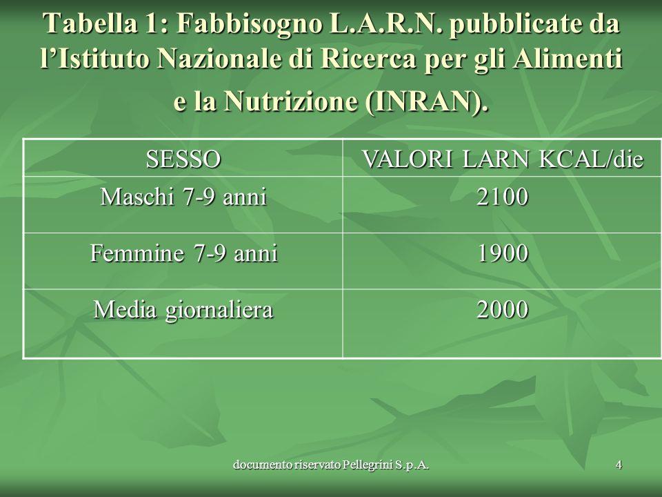 documento riservato Pellegrini S.p.A.