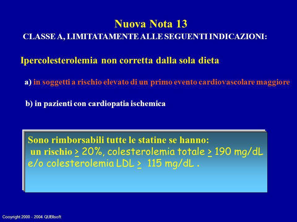 Nuova Nota 13 Ipercolesterolemia non corretta dalla sola dieta