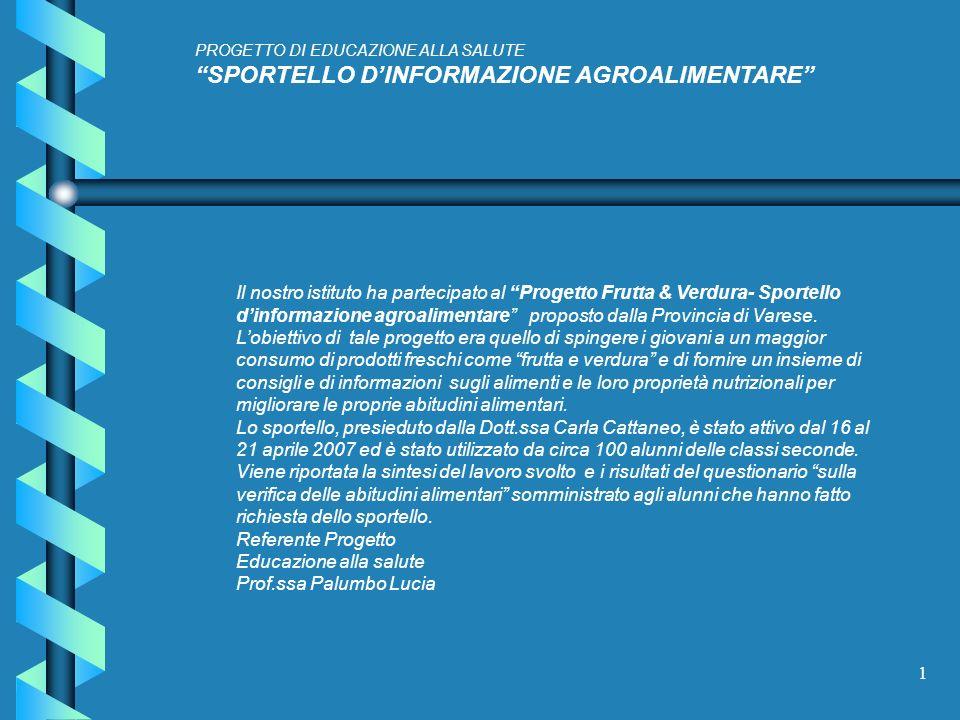 SPORTELLO D'INFORMAZIONE AGROALIMENTARE