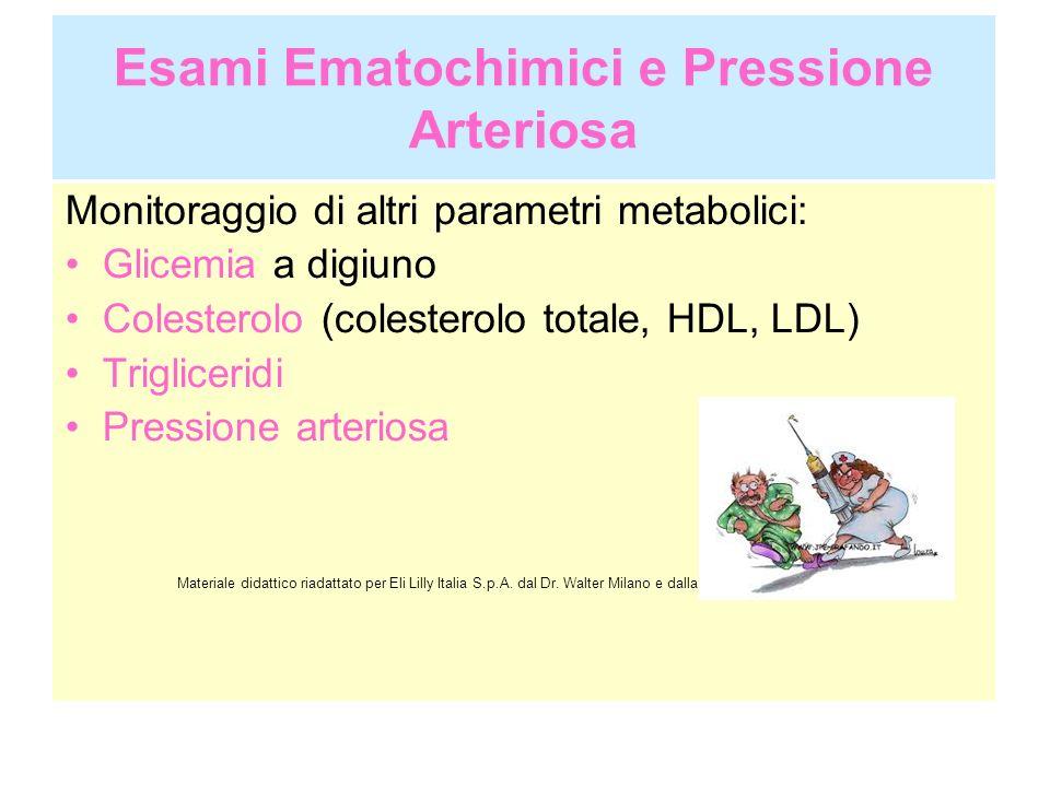 Esami Ematochimici e Pressione Arteriosa