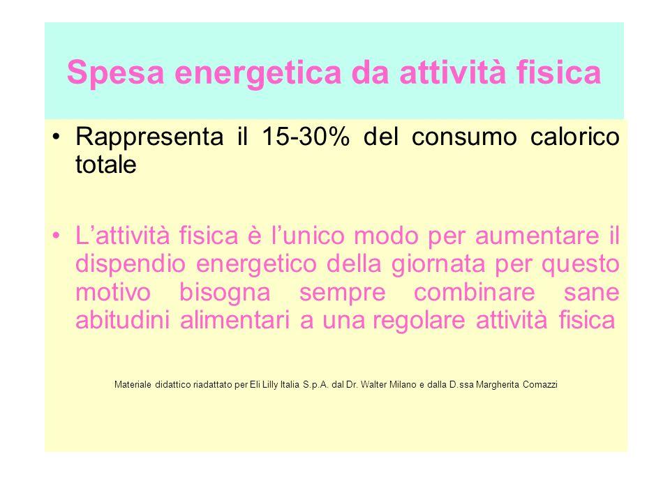 Spesa energetica da attività fisica