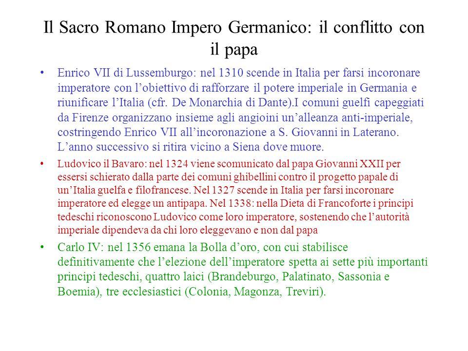 Il Sacro Romano Impero Germanico: il conflitto con il papa