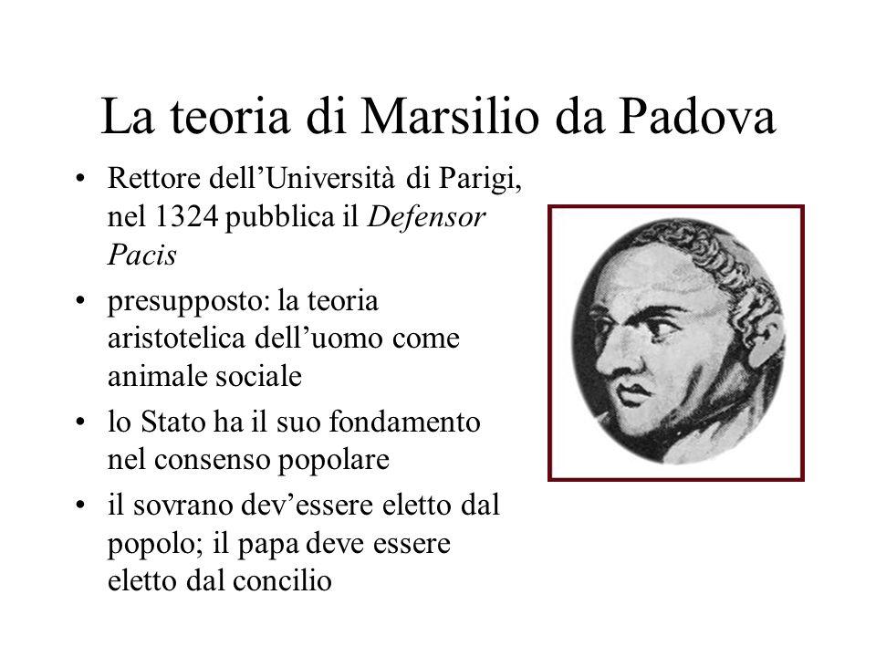 La teoria di Marsilio da Padova