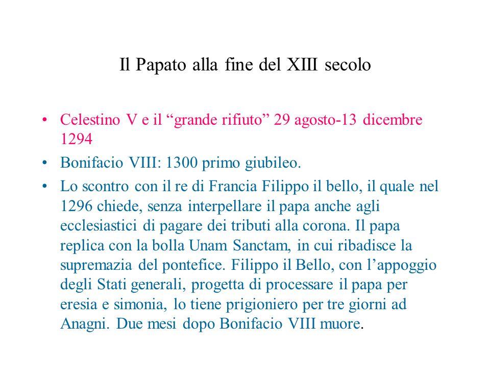 Il Papato alla fine del XIII secolo