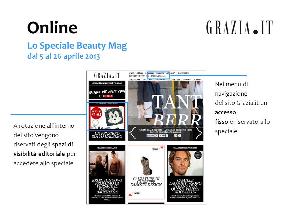 Online Lo Speciale Beauty Mag dal 5 al 26 aprile 2013