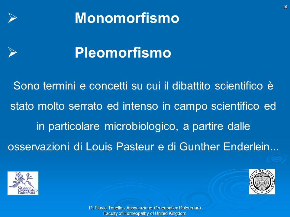 Monomorfismo Pleomorfismo