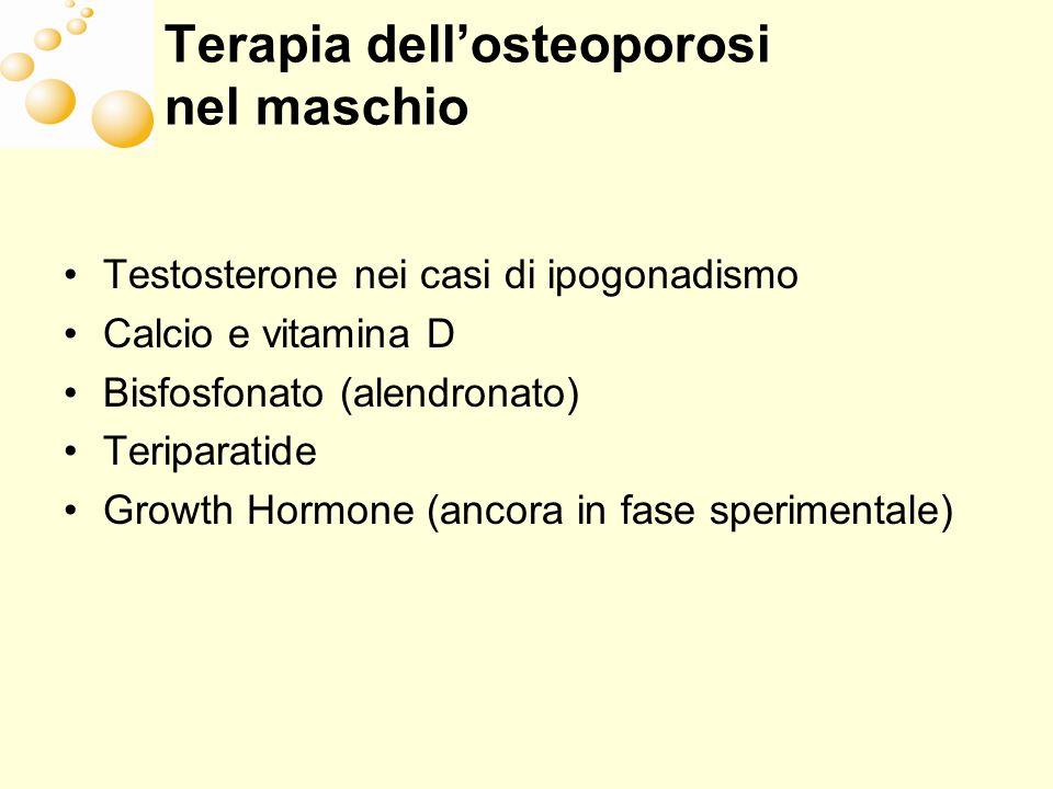 Terapia dell'osteoporosi nel maschio