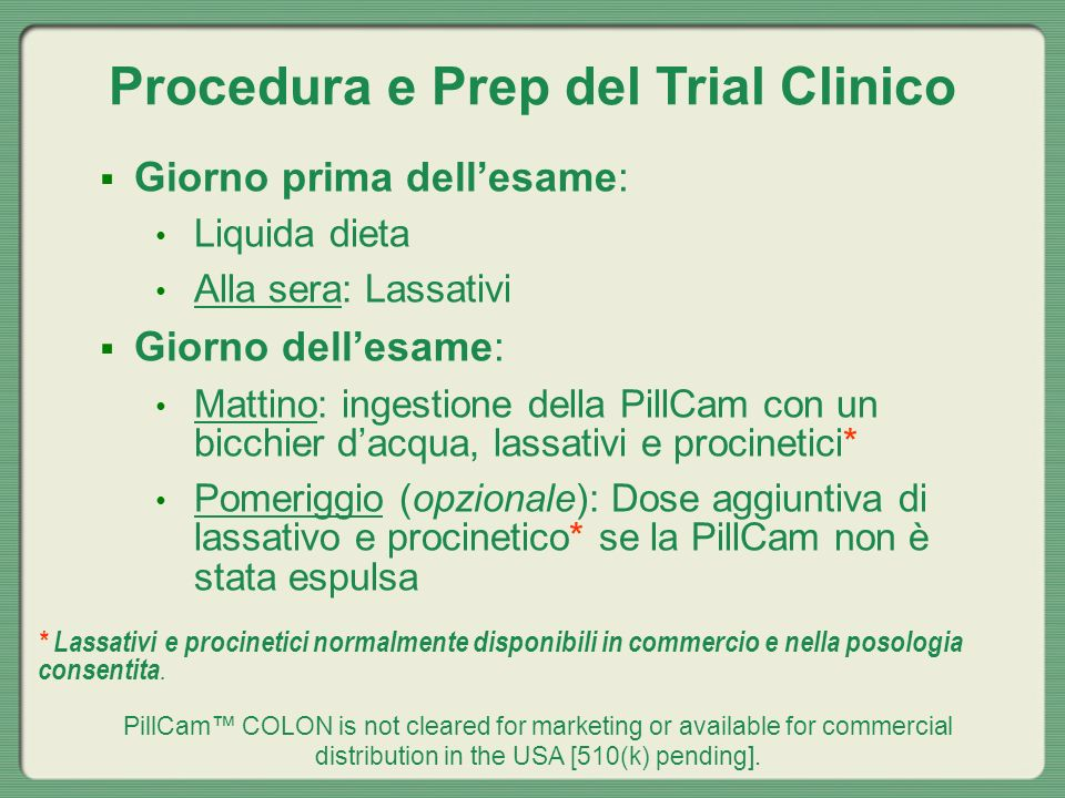 Procedura e Prep del Trial Clinico