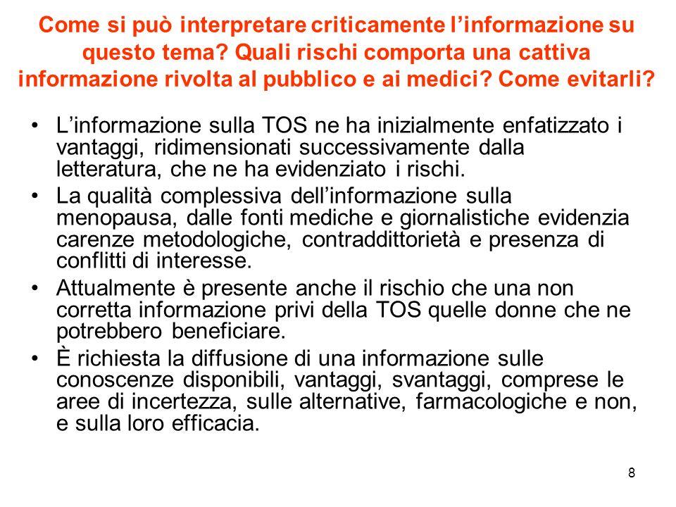 Come si può interpretare criticamente l'informazione su questo tema