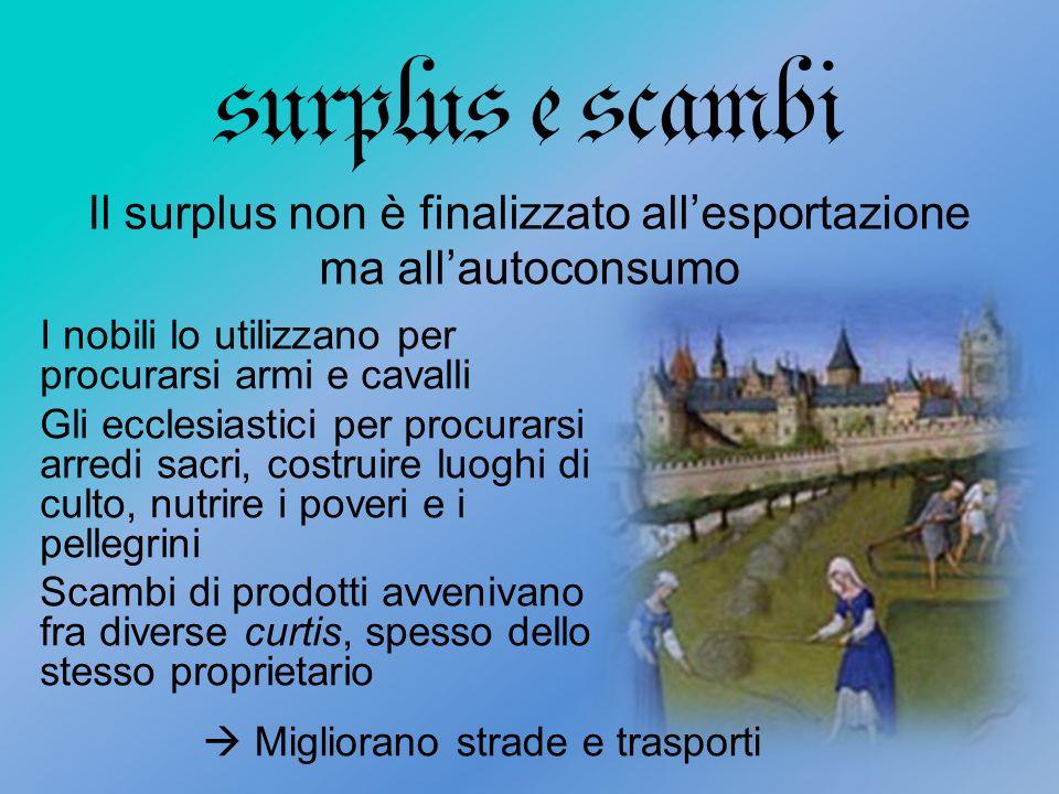 Il surplus non è finalizzato all'esportazione ma all'autoconsumo