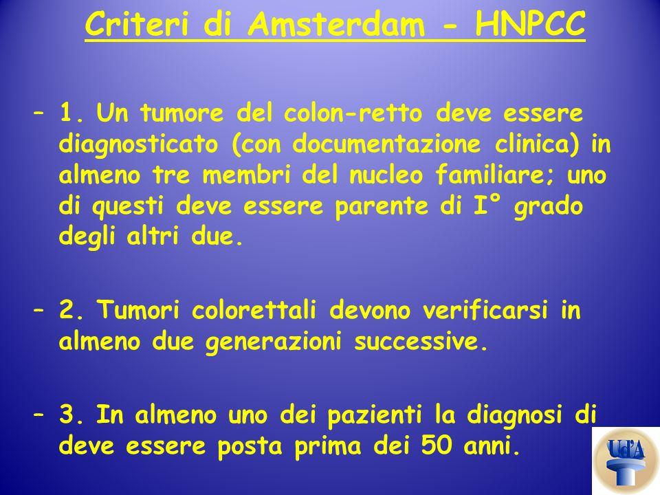 Criteri di Amsterdam - HNPCC