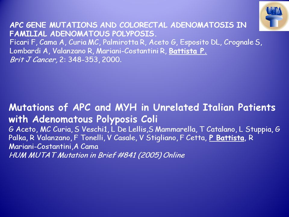 APC GENE MUTATIONS AND COLORECTAL ADENOMATOSIS IN FAMILIAL ADENOMATOUS POLYPOSIS.